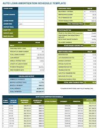loan amortization spreadsheet template amortization schedule excel template auto loan amortization schedule