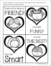 Print out your own super simple valentine's day cards for your valentine featuring a few of our favorite super simple characters. Free Printable Valentine Cards To Color For Kids Set Of 8 Cards