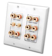 home theater wall plate. 5.2 home theater connection wall plate