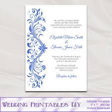 Royal Invitation Template Blue Wedding Invitations Templates Magdalene Project Org