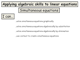 1 simultaneous equations