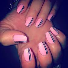 Simple Nail Art Designs Pink And Black Hession Hairdressing