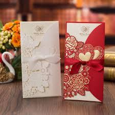 50pcs Laser Cut <b>Wedding Invitations</b> Card <b>Rose</b> Love <b>Heart</b> ...