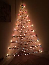 Christmas Tree Design On Wall With Lights My 3 D Wall Christmas Tree Wall Christmas Tree Creative
