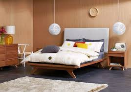 scandinavian design bedroom furniture wooden. calibra bed frame from domayne road to retro style fabric bedhead with styled legs all matching bedroom furniture finish off the look scandinavian design wooden s