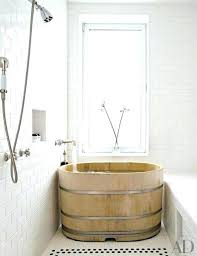 soaking tub wood acrylic plans wooden tubs