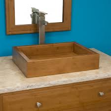 Bamboo Bathroom Sink Pali Rectangular Bamboo Vessel Sink Bathroom