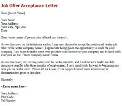 Offer Acceptance Email Sample Job Offer Acceptance Letter Write A Formal To Confirm The