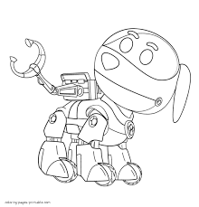 Paw Patrol free coloring sheets. Robot