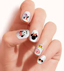 Disney Minnie Mouse and Mickey Mouse Set of DMM002 58 by One Stop Nails  Nail Art Decals Tattoo Nail Decal by One Stop Nails: Amazon.de: Beauty