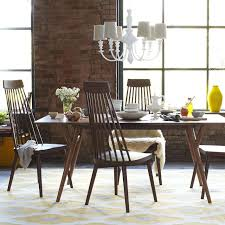 innovative mid century modern dining room furniture mid century expandable dining table west elm