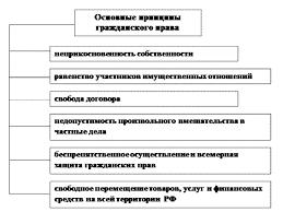 Основные принципы гражданского права Рисунок 1