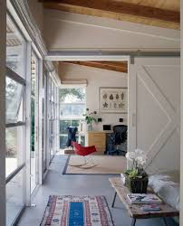 contemporary home office sliding barn. Contemporary Home Office With A Sliding Barn Style Door Omega-Pure.com