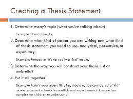 easy steps to a great thesis source a writer s reference by  thesis don ts  announce your thesis in this essay i am going