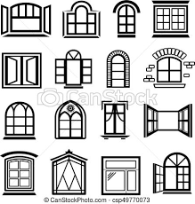 window designs drawing. Unique Designs Window Design Icons Set Simple Style  Csp49770073 Intended Designs Drawing 2