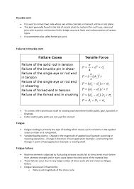Machine Design 1 Notes Short Note On Machine Design Notes