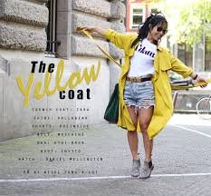 the yellow trench coat