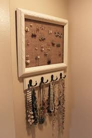 interior: Fabulous Diy Necklace Hanger With White Pearl Necklace Near Black  Pearl Neckalce On Calm