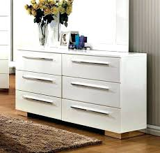 contemporary white dresser studio faux leather 6 drawer