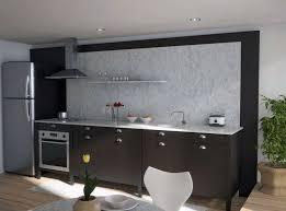 unique black kitchen cabinet design with marble countertops and backsplash
