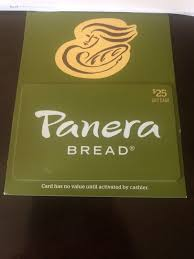 panera bread gift card brand new 25 00 value 1 of 1
