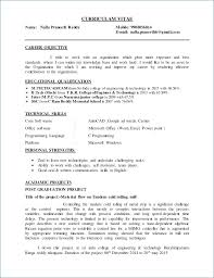 Career Objective For Resume For Fresher In Cse Kantosanpo Com