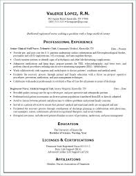 Examples Of Nurse Resumes Enchanting Nursing Resume Examples 48 From Lpn Nursing Resume Examples Free