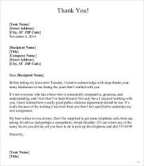 Thank You Letters To Boss Sample Thank You Letter to My Boss Granitestateartsmarket 2