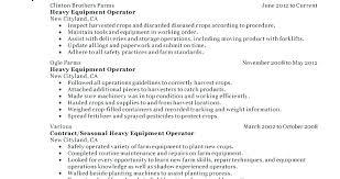 Resume For Heavy Equipment Operator Heavy Equipment Operator Resumes