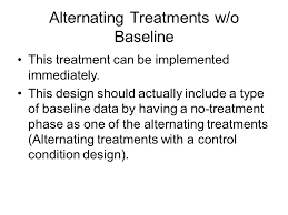 alternating treatment design chapter 9 overview of alternating treatments designs ppt video