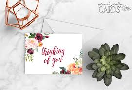 Create and print free printable thinking of you cards at home. Free Printable Thinking Of You Cards Print Pretty Cards