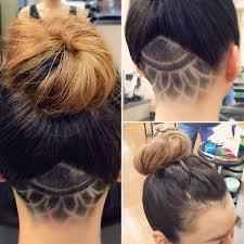 レディースヘアアンダーカット レザーアート メンズの髪の悩みを解決