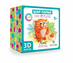 Шар-папье <b>Набор для творчества 3D</b>-лепка Кот - Акушерство.Ru