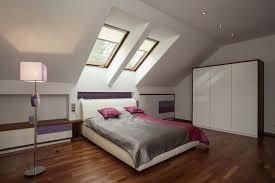 Grandiose Modern Cape Cod Attic Bedroom Interior Decors With Upholstery  White Bed Added Two Window Glass As Well As Built White Wardrobe In Master  Bedroom ...