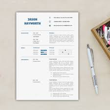 Modern 2 Pages Resume Template Free Cover Letter Letterhead Instant Download Of Professional And Clean Resume Design As A4 Us Letter