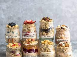 overnight oats with 9 flavor options