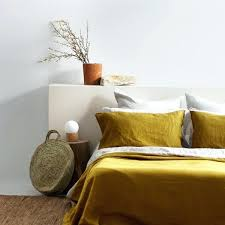 ac flax linen duvet cover ochre west elm belgian review copy of a c