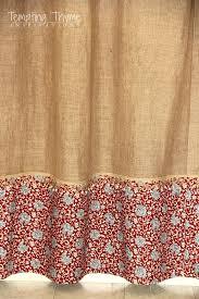 no sew burlap shower curtain tempting thyme burlap shower curtain no sew shower curtain bathrooms burlap