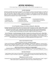 Law Enforcement Resume Template Best Law Enforcement Resume Template Sample Police Example Curriculum