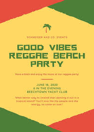 Block Party Flyers Templates Red Green Reggae Rastafari Block Party Flyer Templates By