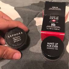 sephora gel eyeliner and make up forever powder