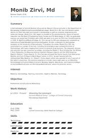 Dermatologist Resume Samples Visualcv Resume Samples Database