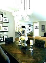 chandelier height over table size above kitchen swag dining pretty