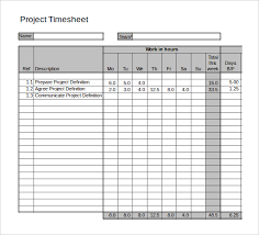Time Sheets Excel 21 Project Timesheet Templates Free Sample Example Format Timesheet
