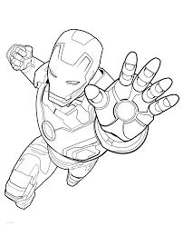 Disegni Da Colorare Uomo Dacciaio Con Simboli Avengers Da Stampare E