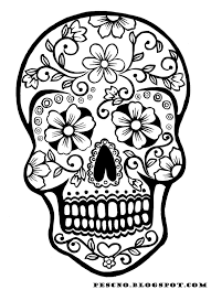 Adult Day Of The Dead Skulls Coloring Pages Day Of The Dead Skulls