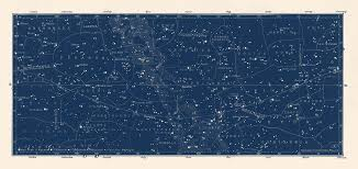 Constellation Chart Amazon Com Large Horizontal Antique Constellations Map And