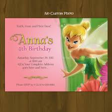 Tinkerbell Invitations Printable Tinkerbell Pink Tinker Bell Printable Birthday Invitation Card Diy