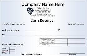 Company Receipt Format Intersectionpublishing