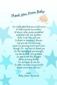 how to write baby shower thank you poems to get special gift from your heart